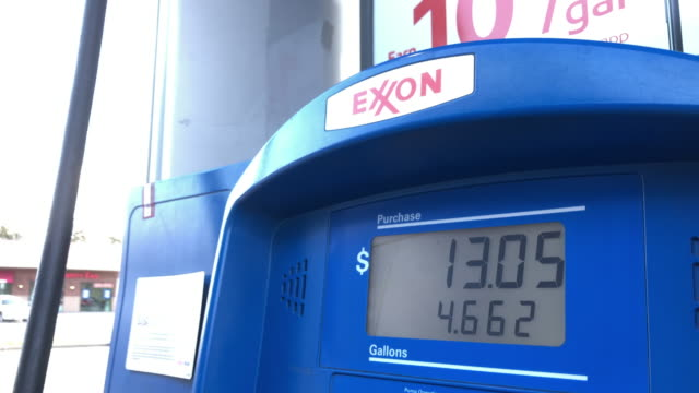 exxon gas station - currency symbol stock videos & royalty-free footage