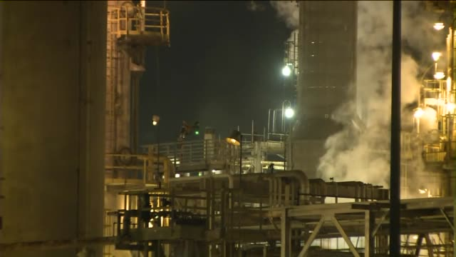 ktla exxon mobil torrance refinery - exxon stock videos & royalty-free footage
