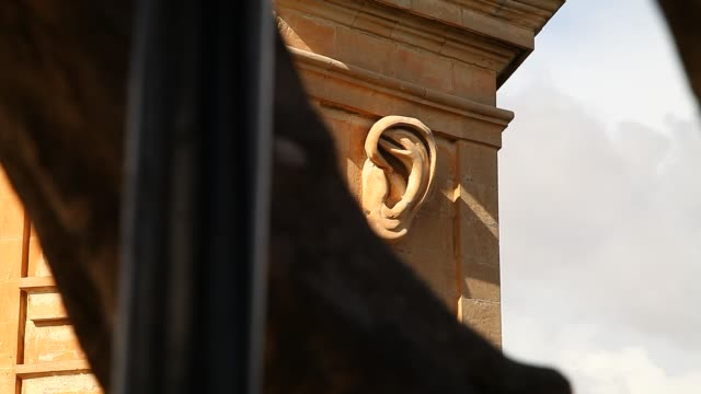 eye and ear watchtower in malta - 美術工芸品点の映像素材/bロール