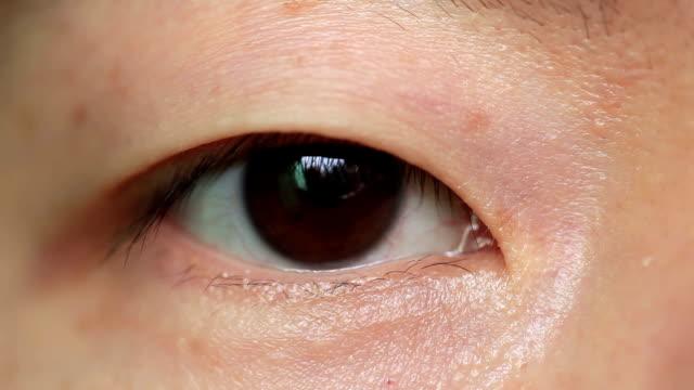 目のクローズアップ - 中国人点の映像素材/bロール