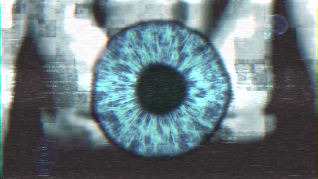vídeos de stock e filmes b-roll de eye digitta system of person ai recognition - identidade