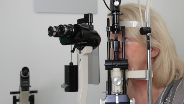 eye exam - ophthalmologist stock videos and b-roll footage