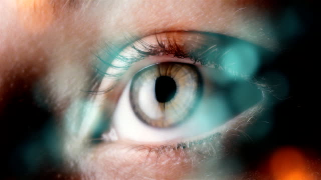 eye extreme close up - sensory perception stock videos & royalty-free footage