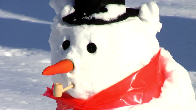 eye falls out (hd) - snowman stock videos & royalty-free footage