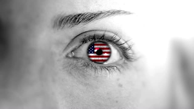usa eye. hd - us flag stock videos and b-roll footage