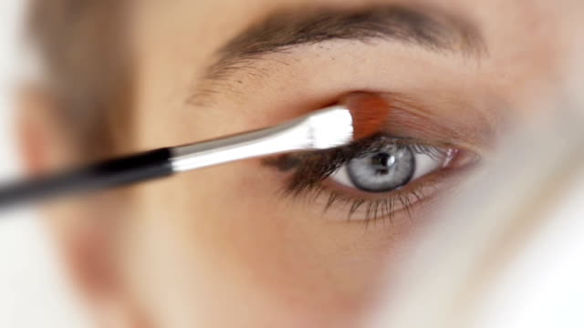 eye makeup close    he  gl - make up stock videos and b-roll footage