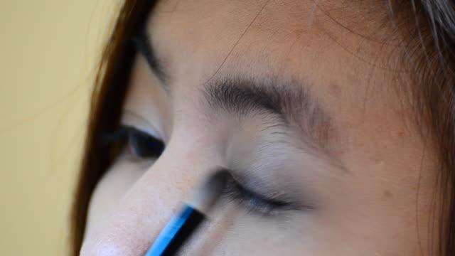 eye make-up - self improvement stock videos & royalty-free footage