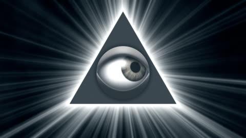 eye of providence loop - religion stock videos & royalty-free footage
