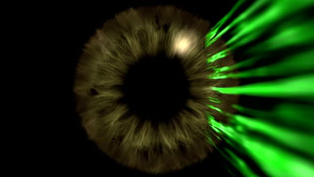 vídeos y material grabado en eventos de stock de reconocimiento de seguridad ocular - láser médico