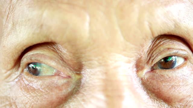 Eye senior woman