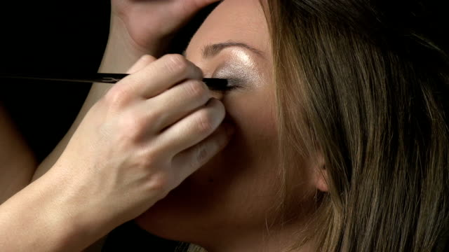 eye shadow - blusher make up stock videos and b-roll footage