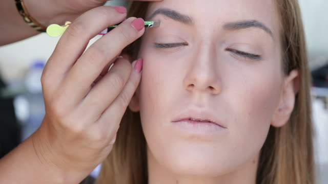 eyebrows plucking - eyebrow stock videos & royalty-free footage