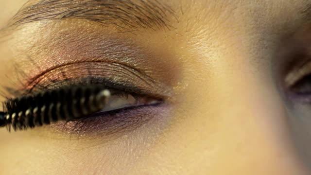 eye-lashes with a mascara