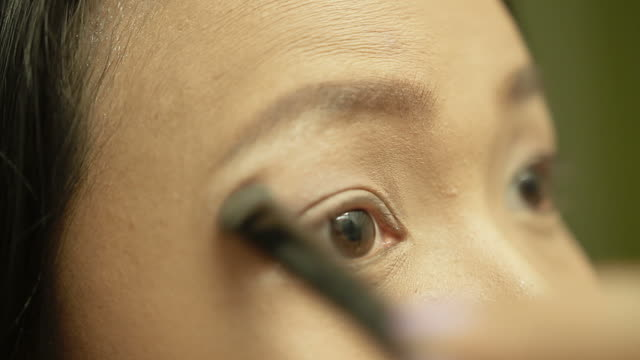 eyelid make up(eyeshadow) - eyelid stock videos and b-roll footage