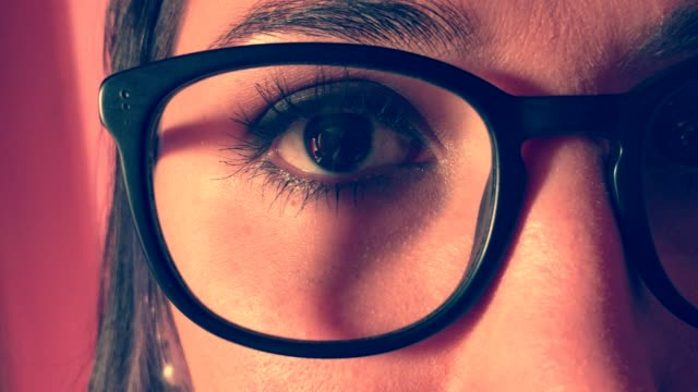 eyes and eyebrows glasses - eyewear stock videos & royalty-free footage