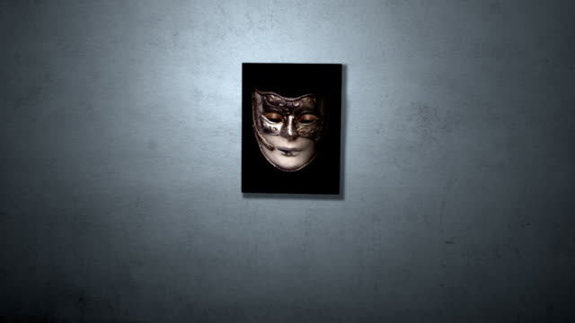 eyes inside mask - tragedy mask stock videos & royalty-free footage