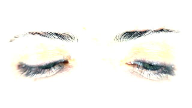 Eyes looking around. HD