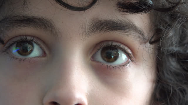 eyes of a hispanic child boy, close-up - extreme close up stock videos & royalty-free footage