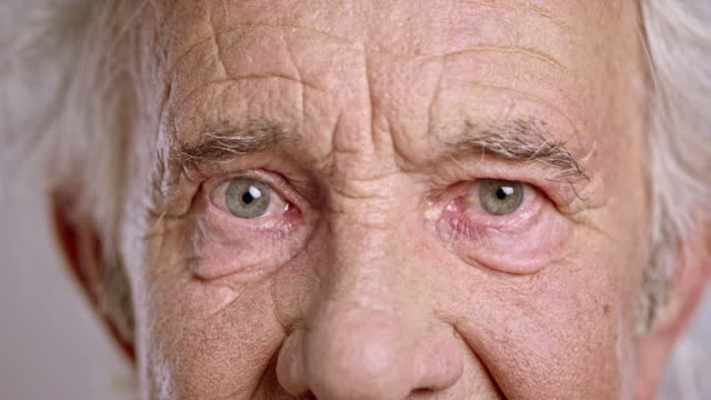 Eyes of a senior Caucasian man