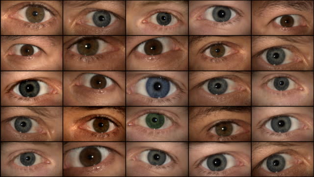 eyes watching (hd 1080) - big brother orwellian concept stock videos & royalty-free footage