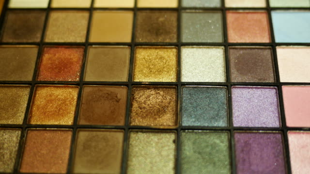 eyeshadow palette - blusher make up stock videos and b-roll footage