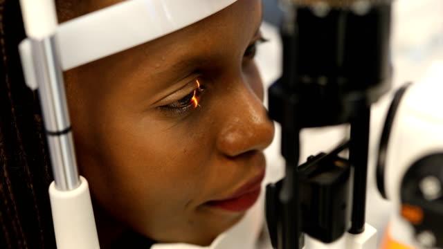 eyesight exam - retina stock videos & royalty-free footage