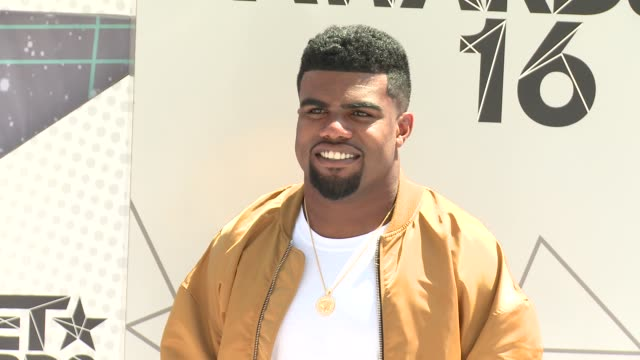 Ezekiel Elliott at 2016 BET Awards in Los Angeles CA