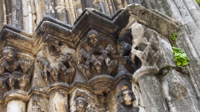 vídeos y material grabado en eventos de stock de façade os do carmo church, lisbon, portugal, europe - ruina antigua