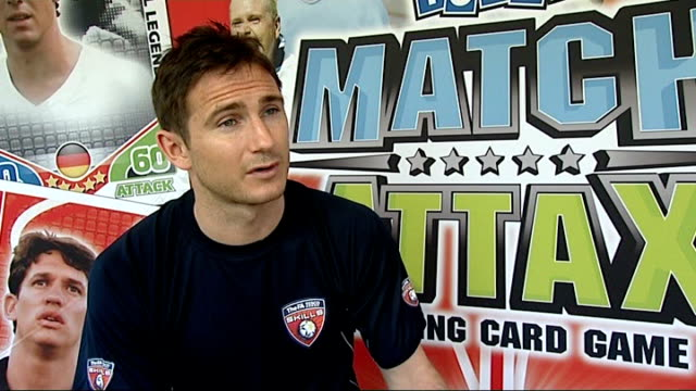 fabio capello on training pitch int frank lampard interview sot capello very strong and disciplined ext reporter to camera - austria stock videos & royalty-free footage