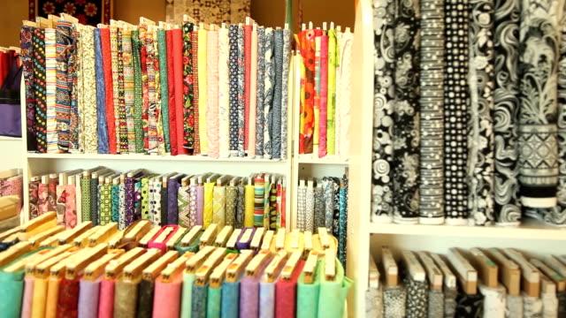 fabric dolly shot wide - 商品点の映像素材/bロール