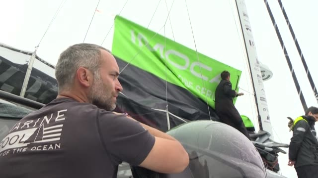 fabrice amedeo is preparing for his next single-handed sailing challenge, but his winning the solo round-the-world race is not his only objective - circumnavigation stock videos & royalty-free footage