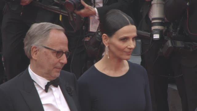 fabrice luchini, juliette binoche at 'slack bay' red carpet at grand theatre lumiere on may 13, 2016 in cannes, france. - juliette binoche stock videos & royalty-free footage