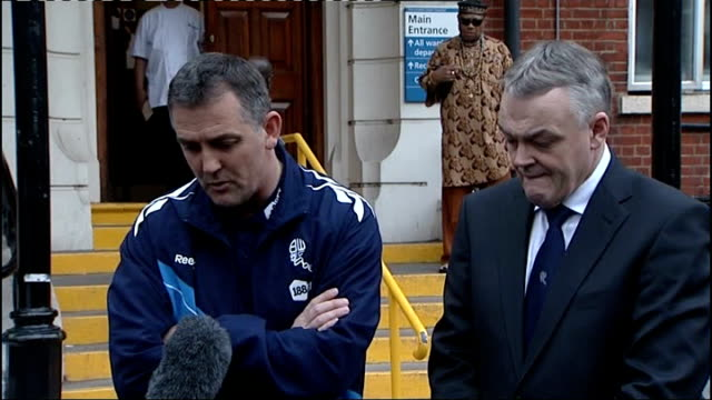 fabrice muamba in intensive care following his collapse on pitch during fa cup match chelsea london chest hospital front of hospital owen coyle... - fabrice muamba stock videos and b-roll footage