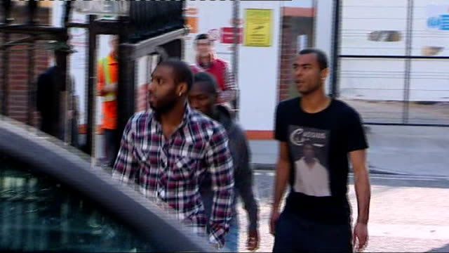 fabrice muamba shows signs of recovery after midgame collapse england london hackney the london chest hospital ext shaun wright phillips and ashley... - fabrice muamba stock videos and b-roll footage
