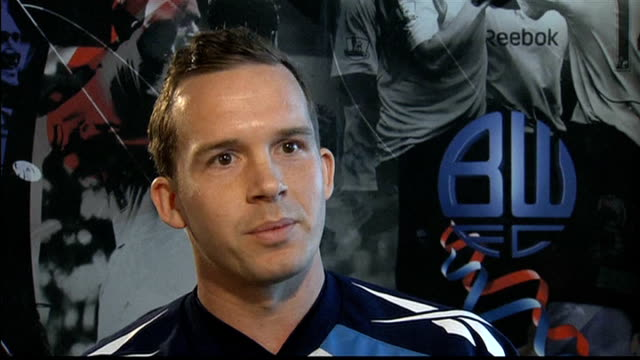 fabrice muamba shows signs of recovery after midgame collapse england greater manchester bolton int kevin davies interview sot - bolton greater manchester stock videos and b-roll footage