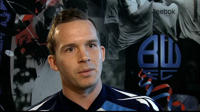 fabrice muamba shows signs of recovery after midgame collapse greater manchester bolton int kevin davies interview sot - fabrice muamba stock videos and b-roll footage