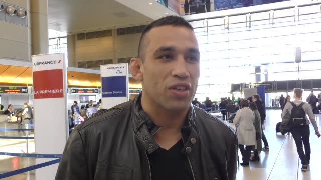 vídeos de stock e filmes b-roll de interview fabricio werdum on the upcoming ufc rematch with stipe miocic at los angeles international airport at celebrity sightings in los angeles on... - caule de planta