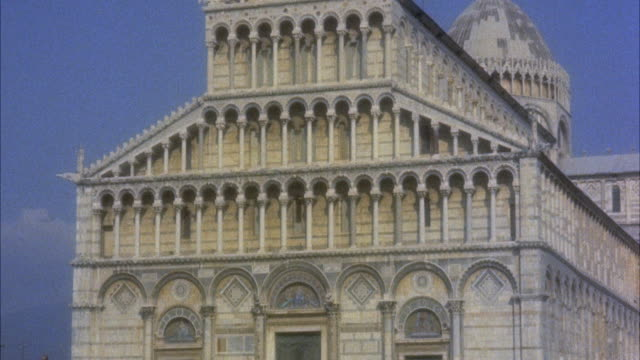 ms facade of cathedral / pisa, italy - pisa cathedral stock videos & royalty-free footage