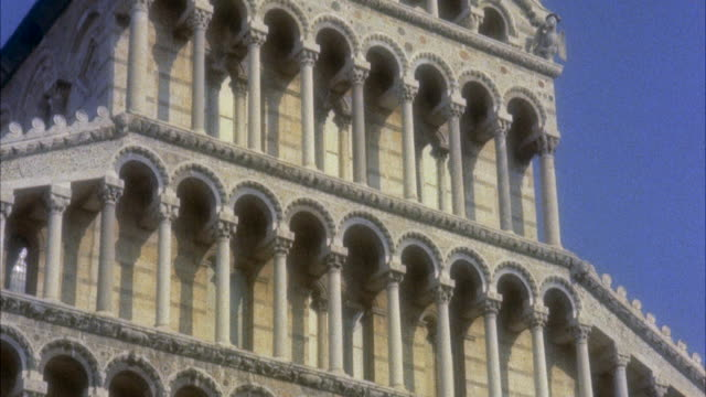ms td facade of cathedral / pisa, italy - pisa cathedral stock videos & royalty-free footage