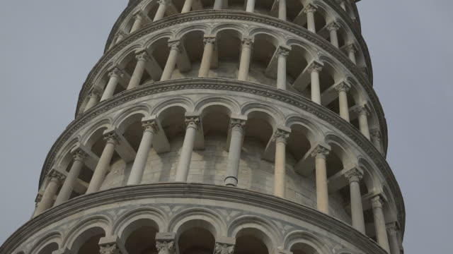 Facade of the Leaning Tower, Camp dei Miracoli, Pisa, Tuscany