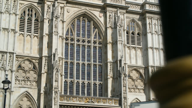 ms facade of westminster abbey west front - westminster abbey stock videos & royalty-free footage