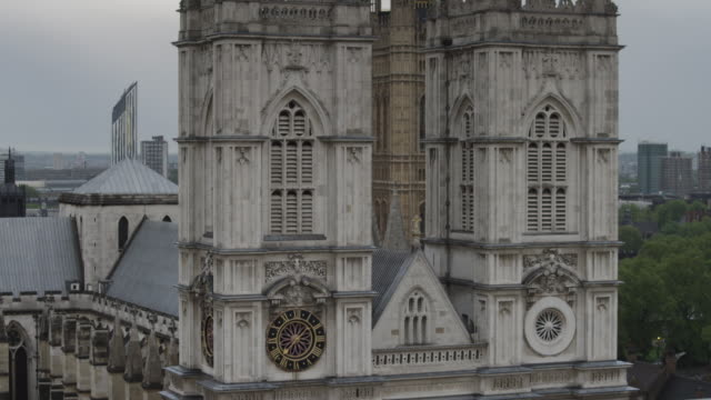ms tu facade of westminster abby / london, uk - roman numeral stock videos & royalty-free footage