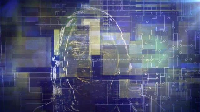 gesichtserkennungssystem der person ai - interaktivität stock-videos und b-roll-filmmaterial