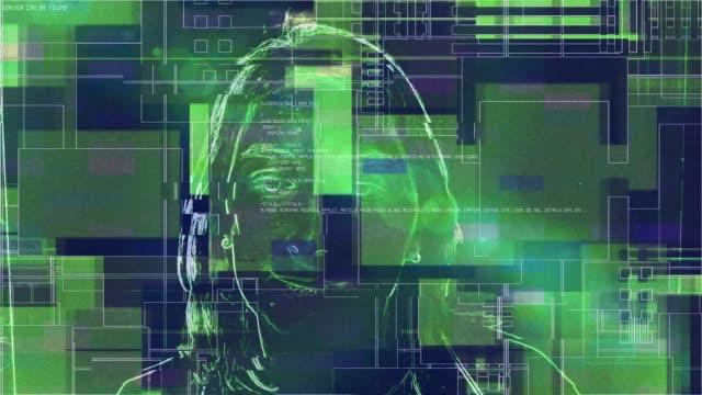 vídeos de stock, filmes e b-roll de detecção de rosto sistema de reconhecimento de pessoa ai - identity