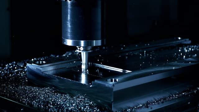 フェイスミーリングプロセス(スーパースローモーション) - 工業技術点の映像素材/bロール