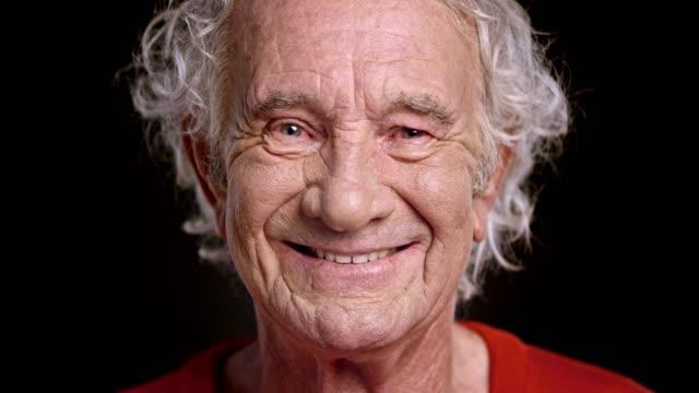 Face of a smiling senior Caucasian man