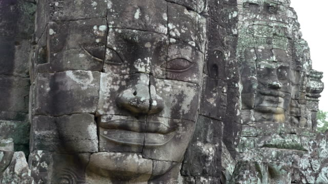 face of bayon - angkor wat stock videos and b-roll footage