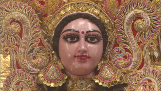 Face of effigy, Durga Puja festival, Kolkata Available in HD.