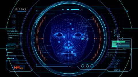 vídeos y material grabado en eventos de stock de interfaz de usuario de reconocimiento de cara - equipo médico de escaneo