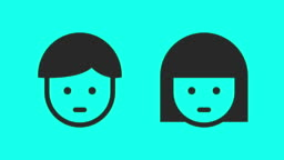 Face Scan Vector Animate Stock Footage Video